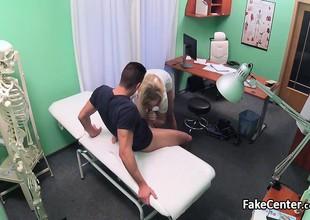 Hot blonde nurse riding accidental patient