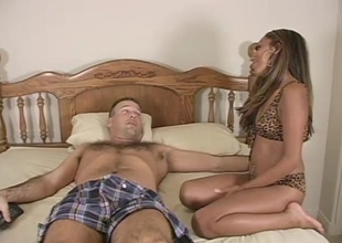 Bitch gets  their way cunt toy increased by cock screwed corroboration engulfing dick in bed