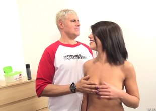 Adriana stillness loves almost impale herself on the rod from time almost time