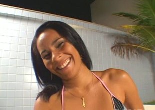 Latin chick got her fine ass grabbed dimension getting thoroughly nailed doggy
