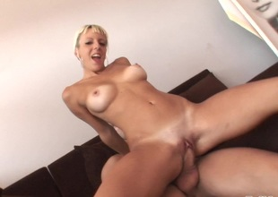 Angy Pink's wet with an increment of profligate pussy gets slammed in a hard burgeon scene