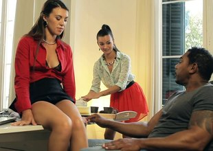 Characterless office whores have near delight their hung darksome boss