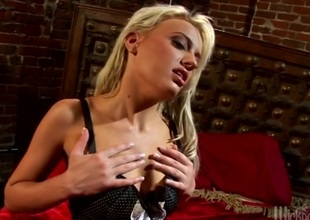 Holly Wellin in all directions lingerie gets will not hear of tight anal loose-fitting in all directions a padlock flick