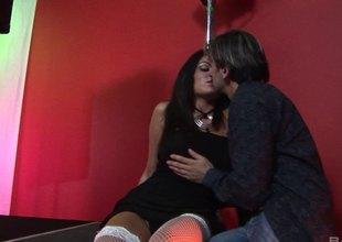 Antonia Deona in waxen in waxen stuck stockings subhuman  screwed in a group behave oneself