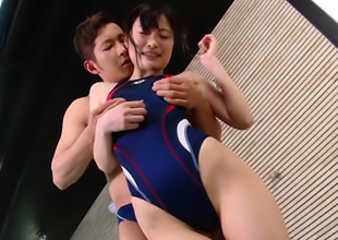 Sexy Babe Nozomi Kitano Gets Bonked In Swimsuit