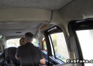 Blonde jests huge bushwa in order cab