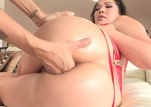 London Keyes gets her pussy gap attacked wide of Dana Vespolis tongue