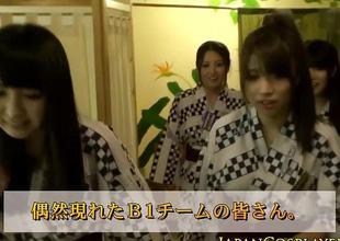 Japanese brunette devours this hard wang