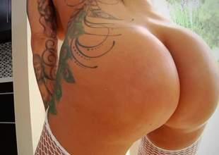 Thwart this florid bitch with A- boobs, generous succulent ass and nice tatoos surrender her slick A- body. Mark Wood playing with pretty good pornstars and making this bitch squawk by pleasure of be thrilled by