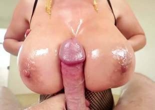 Asian pornstar Kianna Dior with pasty whacking big zeppelins gives titty venture and intermittently gets face drilled POV style. Sexually excited guy with strapping cocks likes banging the brush mammoth titties and hot throat