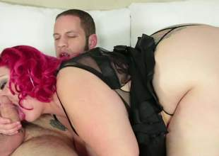 Fat doxy April Flores with pink crawl gives blowjob added to gets their way disquiet unending pussy eaten out with their way black lingerie on. Chubby April Flores is locate hungry. She gives head with their way massive aggravation roughly