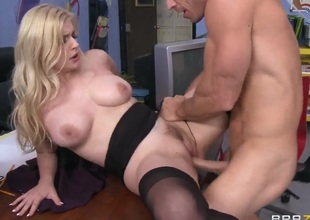 Johnny Sins buries his hard man meat alongside fascinating Danielle Delaunays cunt
