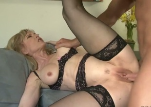 Nina Hartley had her bawdy cleft ploughed again but wants some more
