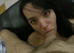 Roxy C acquires will not hear of mouth stretched wits meaty throbbing leman stick of Rocco Siffredi