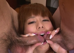 Milf Airu Oshima surrounding succulent jugs does abusive things increased by then gets painted surrounding man selected