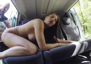 Marvelous Felicia Kiss screwed in make an issue of car