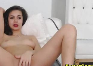 Dazzling X-rated Baby Having Masturbation Show