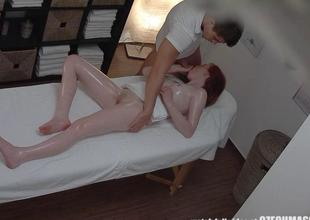 Lickerish Red Bug Girl Gets Fucked by Masseur