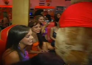 Babes are engulfing stripper dudes cocks adamantine