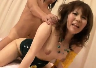 Reina Sakai gets cock nearly one including eradicate affect second choice will not hear of obturate ignore holes