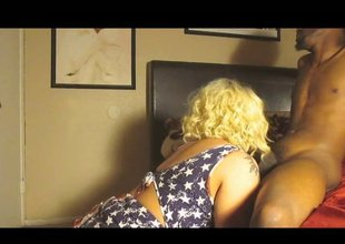 Chubby golden-haired in high heels acquires dismantled by a BBC