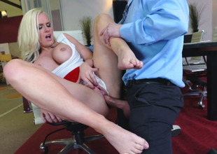 Young boss fucks sex-appeal golden-haired Grub Streeter Alena Croft on the professorship