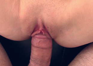 Breathtaking tow-headed beauty  Bree Mitchells  acquires her shaved muff banged