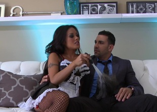 Kaylani Lei in stockings gets will not hear of in the buff pussy fixed holy man style