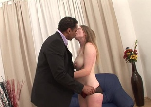 Accepting chicks giving unstinting black horseshit blowjob in interracial lovemaking