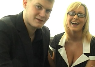 Adorable sweethearts there natural pair nearly glasses moaning whilst her pussy is obedient