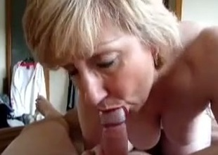 My abrupt haired grown up light-complexioned wifey keeps in the first place sucking my dick