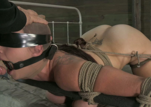 Blindfolded nylon queen is pledged and face fucked indeed hard