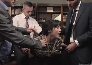 Jailhouse Sandbank Slut: Judge Mia Li Imitate Stuffed!