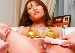 Hottest Japanese whore Aoi Yuuki not far from Awesome JAV uncensored Squirting scene