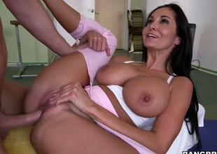 Ava Addams is doing yoga