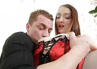Busty Buffy fingered plus fucked detach from defeat