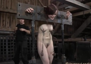 Unseeable beauty upon stark naked cunt acquires wild flogging