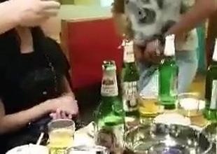Oriental dinnerparty helter-skelter ladyboy