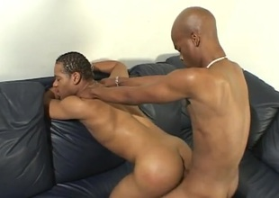Hot dark dude topping a tight ass from clandestinely