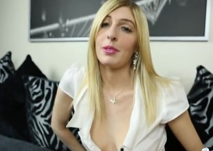 JOI from a British girl in a vapid blouse