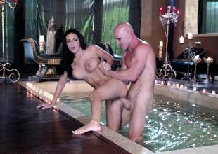 Romantic hot tubbing hardcore sex with Amber Cox