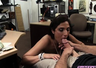 Lovely long legged MILF blows bushwa