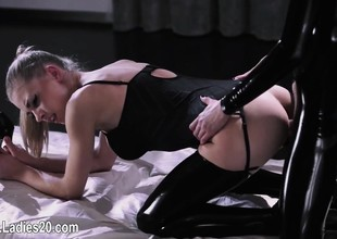 horny hose insusceptible to strapon lesbians