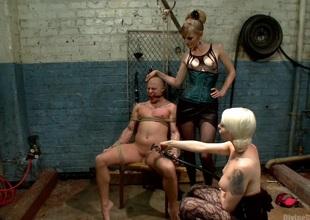 Femdom Revenge: Lorelei Lee coupled with Mona Wales Punish Misbehaved Man