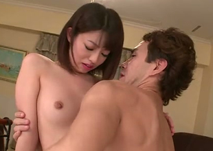 Talented Japanese porn performer Akina Sakura DPed brutishly in hardcore video