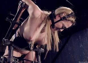Hot Blond with regard to Abusive Appliance Subjection