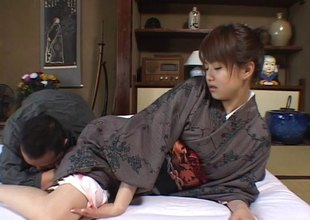 Japanese babe in dramatize expunge routine clothes goes wild with dramatize expunge partner