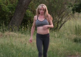Cougar more great breasts topless space fully hiking on a park trail