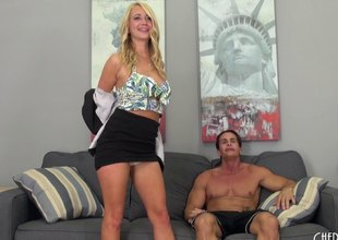 Outlandish pretty blond is in the mood to fuck all day