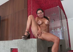 Bombshell MILF with show heavy tits wears underware while shagging